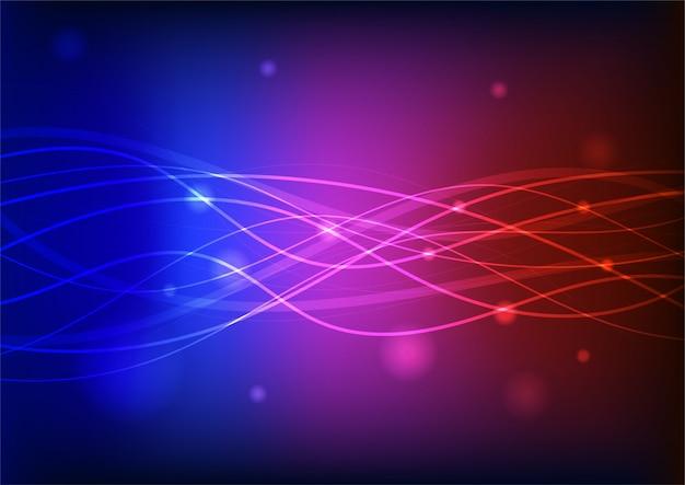 Ligne rougeoyante coloré abstrait