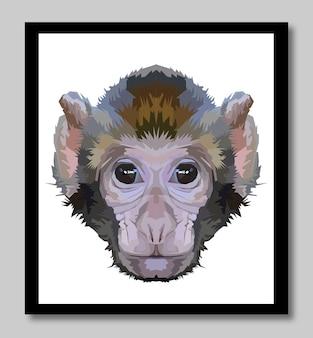 La ligne de singe pop art potrait