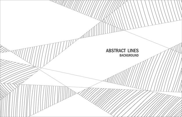 Des Lignes Abstraites Façonnent Des œuvres D'art De Style Avec Un Espace De Texture. Décoratif Pour L'annonce, L'affiche, L'arrière-plan Du Texte De L'en-tête. Vecteur D'illustration Vecteur Premium