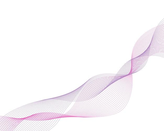 Lignes abstraites d'ondes violettes