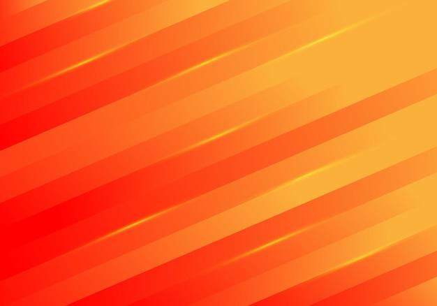 Les lignes abstraites de rayures diagonales jaunes s'allument sur le rouge.