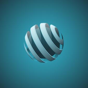 Lignes abstraites de sphère spirale