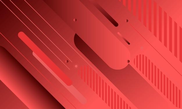 Les lignes arrondies géométriques diagonales rouges abstraites façonnent l'arrière-plan. conception pour votre affiche.