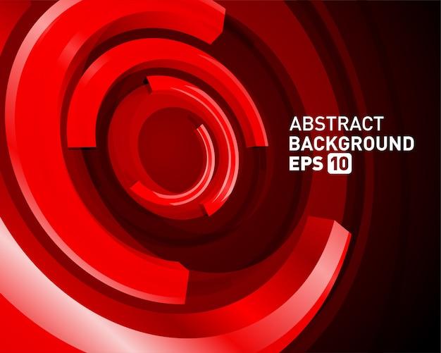 Lignes de cercle 3d abstraites en fond de vecteur moderne de perspective.