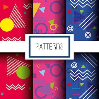Lignes de chiffres et de couleurs