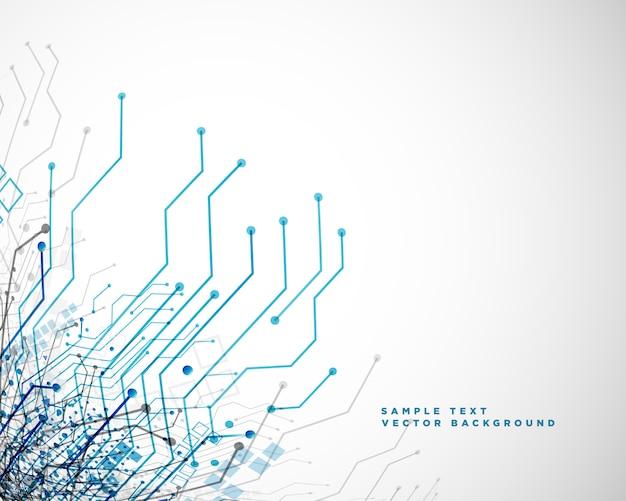 Lignes de circuit de réseau de technologie abstrait