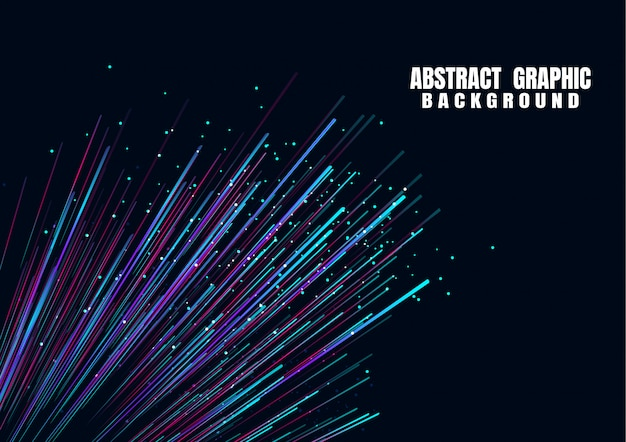 Lignes composées d'arrière-plans brillants à fibres optiques