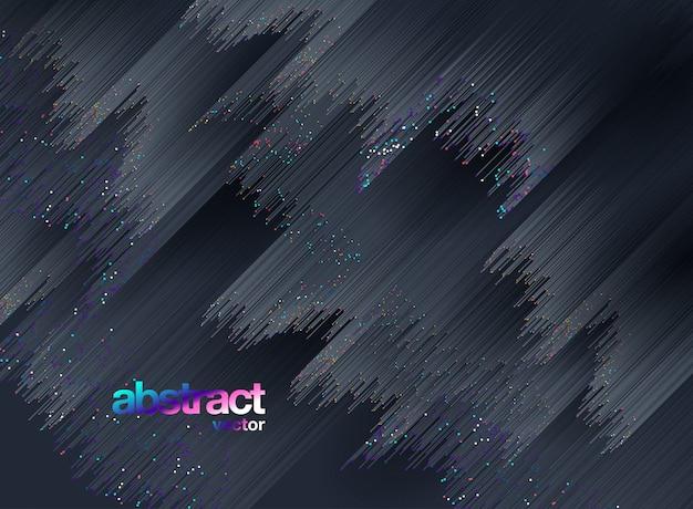 Lignes composées d'arrière-plans rougeoyants, abstrait vector