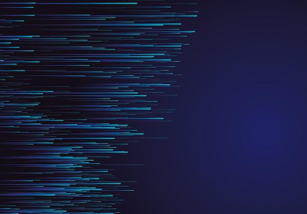 Lignes composées de fonds lumineux
