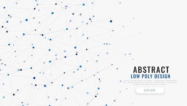 Lignes de connexion réseau et fond de technologie de points