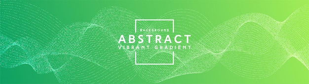 Lignes créatives abstraites fond dégradé vibrant bleu et vert
