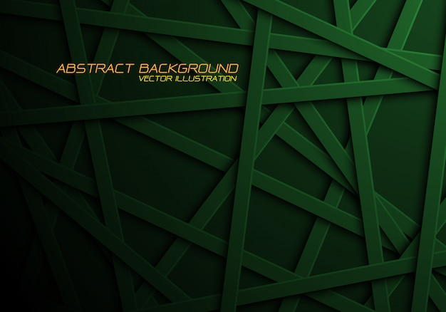 Les lignes croisées de la ligne verte se chevauchent sur un fond noir.