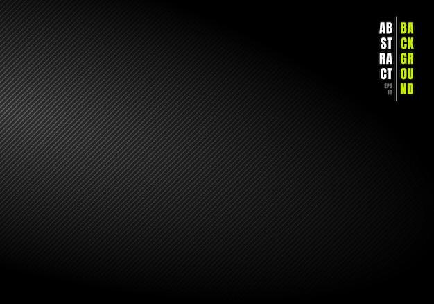 Lignes diagonales abstraites rayé fond noir