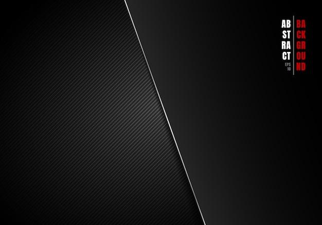 Lignes diagonales abstraites rayées fond noir et gris