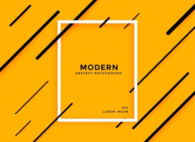 Lignes diagonales modernes fond abstrait jaune