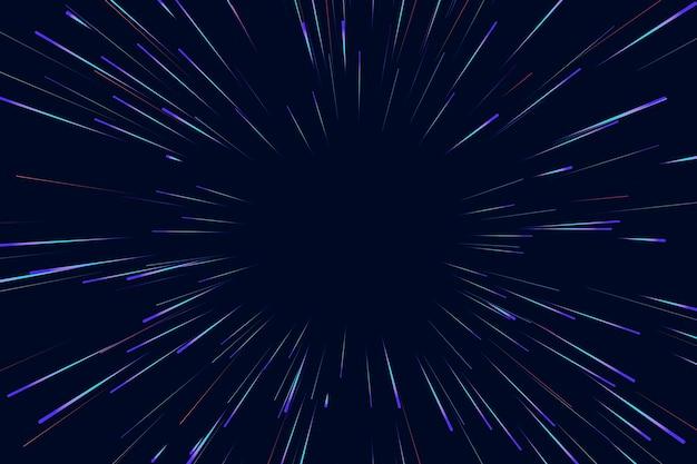 Lignes de fond de lumières de vitesse