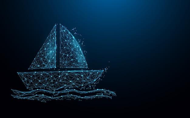 Lignes de formulaire d'icône de bateau