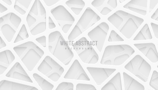 Les lignes géométriques abstraites blanches et grises se chevauchent sur l'arrière-plan style futuriste de la technologie moderne