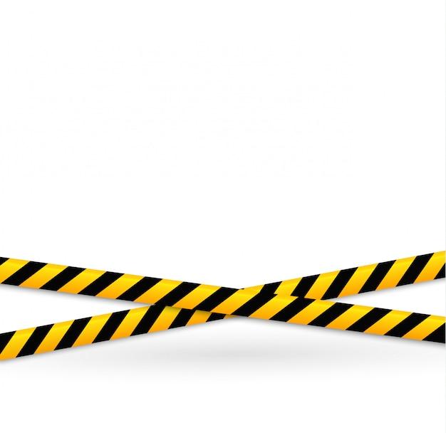 Lignes d'isolation. bandes d'avertissement réalistes. signes de danger.