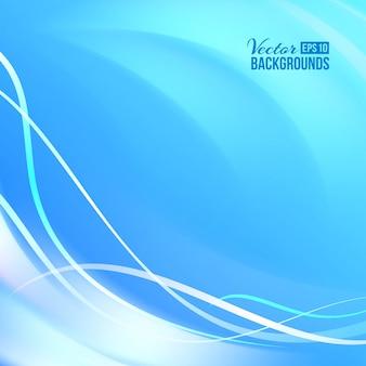 Lignes lisses bleues