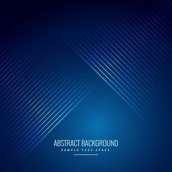 Lignes lisses diagonales en arrière-plan bleu