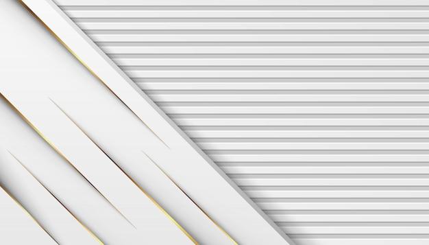 Lignes de lumière dorée de luxe avec fond gris blanc