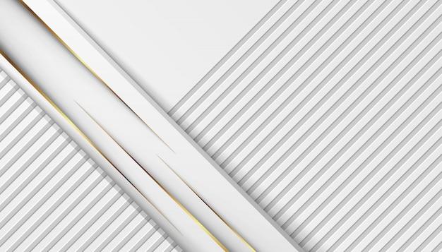Lignes de lumière dorées de luxe avec gris blanc