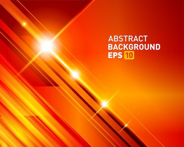 Lignes lumineuses de technologie numérique abstraite et effet de lumière parasite