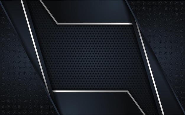 Lignes métalliques sombres abstraites avec fond texturé de chevauchement