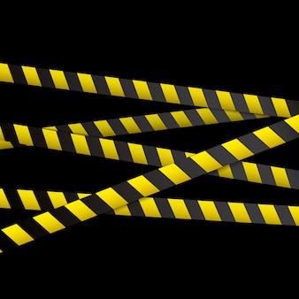 Lignes noires et jaunes