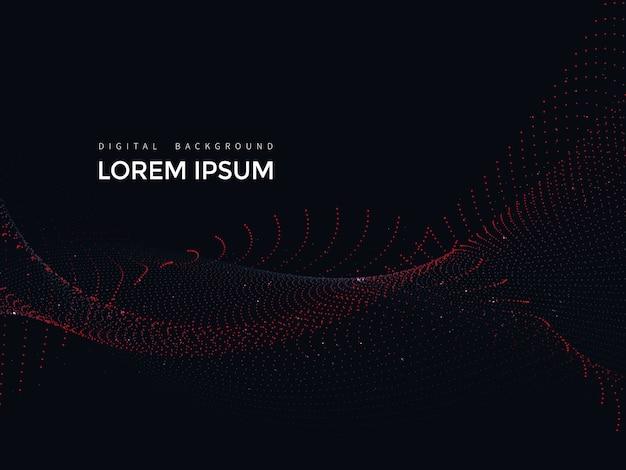 Lignes numériques sur fond noir, maillage abstrait