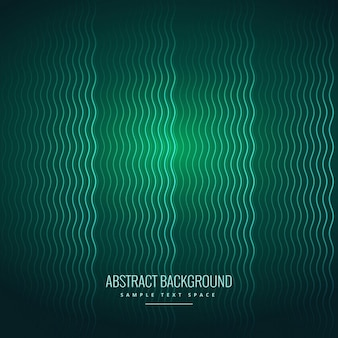 Lignes ondulées abstrait vert