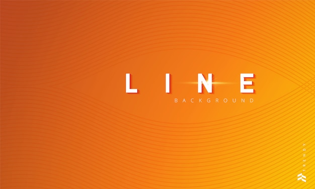 Lignes ondulées sur fond orange