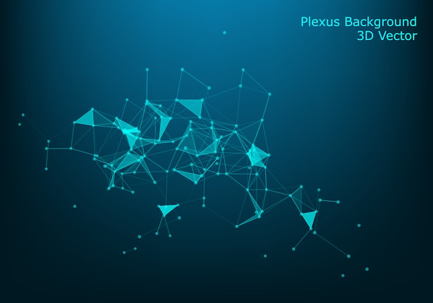 Lignes et particules abstraites de vecteur.