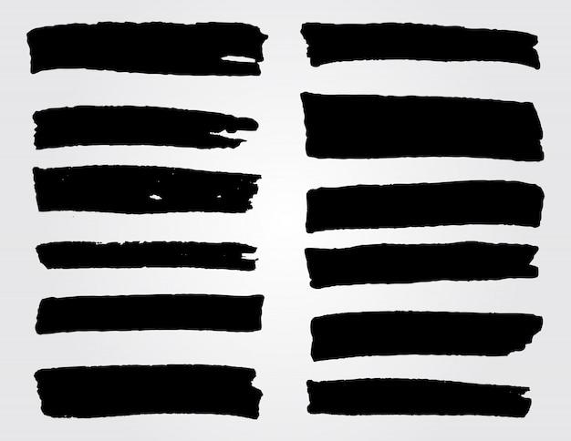 Lignes de peinture dessinées à la main noire