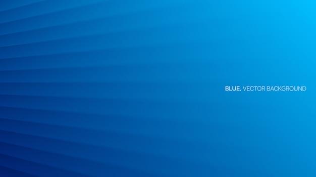 Lignes de perspective lisses 3d bleues minimalistes
