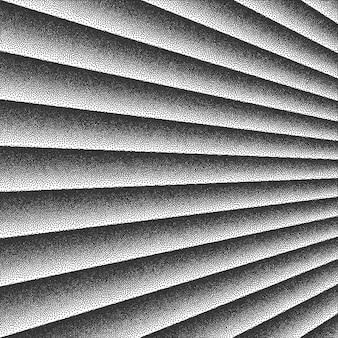 Lignes de perspective sortante fond rétro dotwork