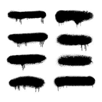 Lignes de pulvérisation peintes à la main