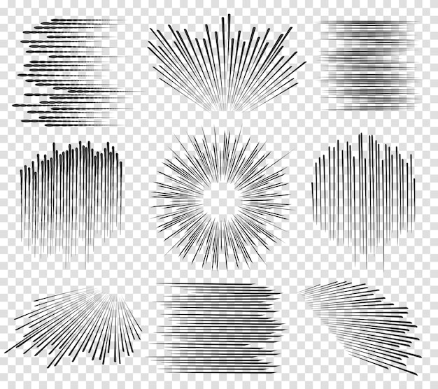 Lignes rapides manga mouvements