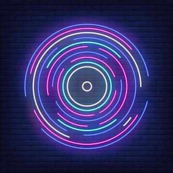 Lignes rondes multicolores dans le style néon