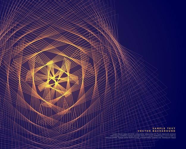Lignes rougeoyantes abstraites vector background
