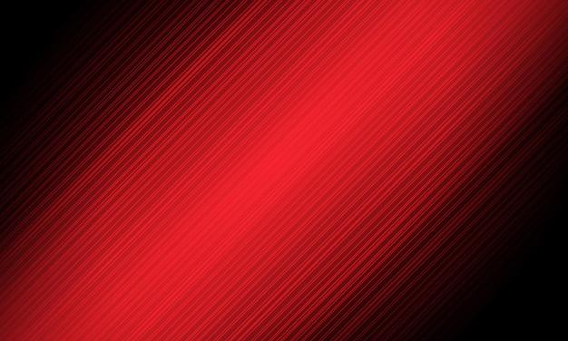 Les lignes rouges abstraites accélèrent la dynamique en illustration vectorielle de fond noir.