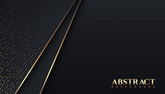 Lignes sombres et dorées de luxe et fond abstrait de couleur étincelante, élégant