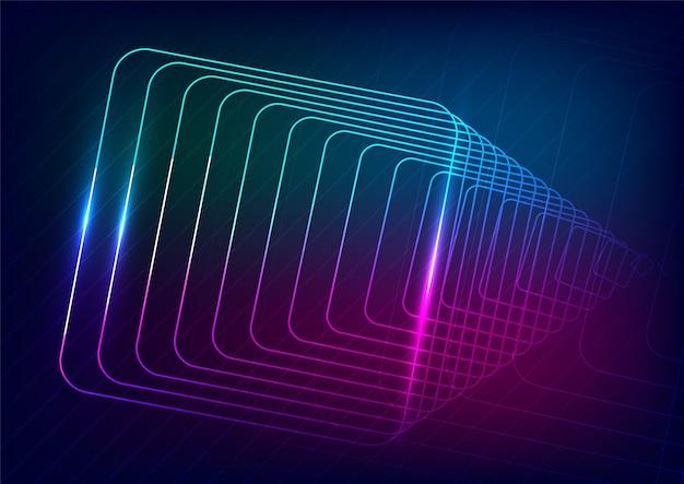 Lignes techno au néon