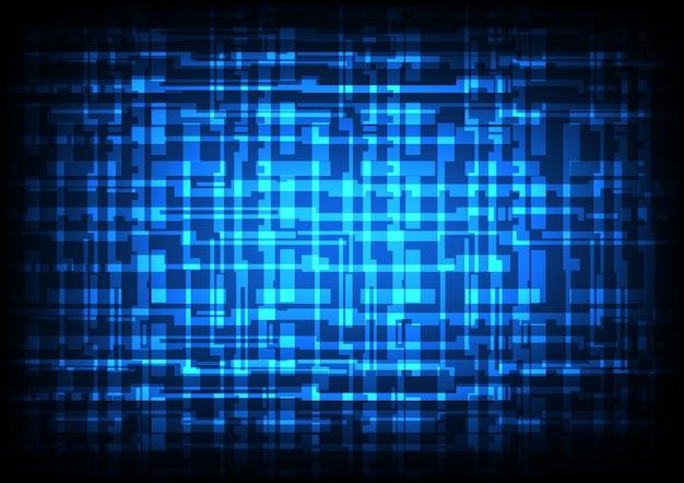 Lignes de technologie brillante abstraite et fond de couleur bleu foncé clair