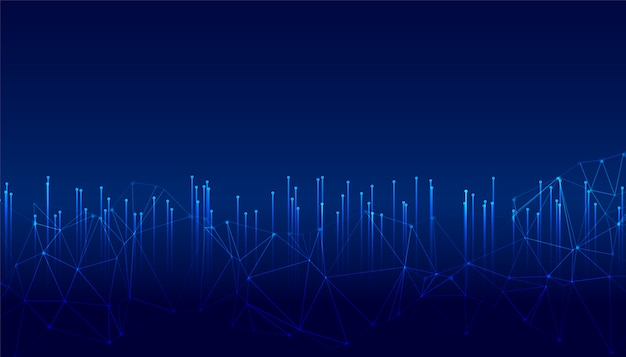 Lignes de technologie lumineuse numérique avec treillis métallique metwork
