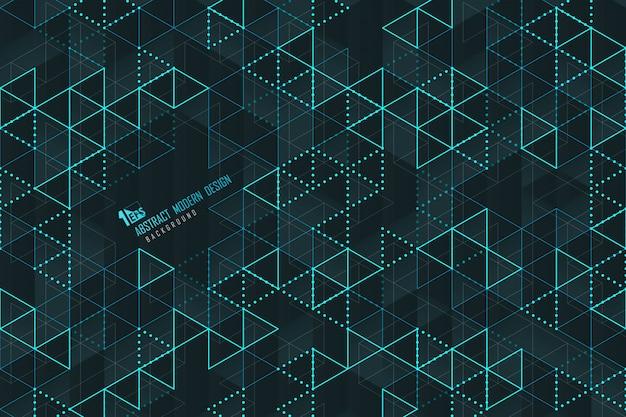 Lignes de triangle bleu abstrait d'arrière-plan de conception de modèle de technologie.
