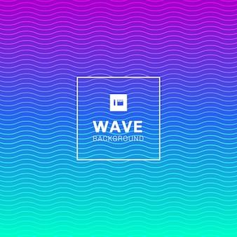 Lignes de vagues abstraites motif de couleur vibrante