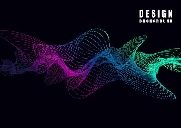 Lignes de vagues colorées abstraites sur fond