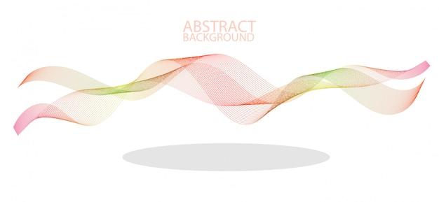 Lignes de vagues colorées abstraites qui coule isolé sur fond noir